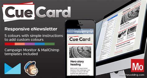 Cuecard Free Responsive Html Newsletter Template Matthew Olding Art Director Newsletter Template Responsive Free