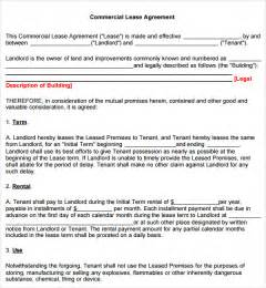 Commercial Rental Agreement Template Free Commercial Lease Agreement 7 Free Download For Pdf