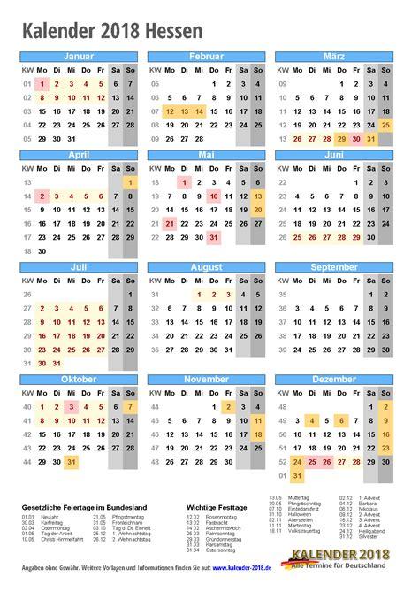Kalender 2018 Ferien Kostenlos Kalender 2018 Hessen Zum Ausdrucken 171 Kalender 2018
