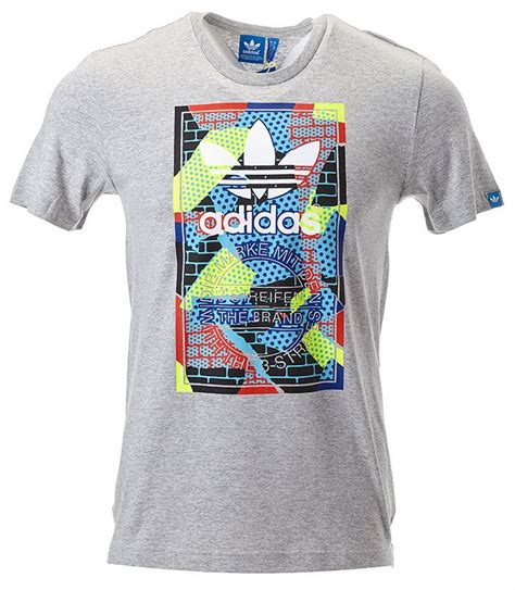 T Shirt Adidas Grome Grey B C adidas originals m 228 nner t shirt adidas logo in schwarz