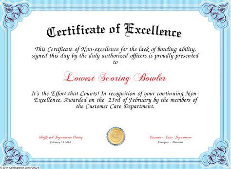 joke certificate templates certificate of appreciation joke image collections