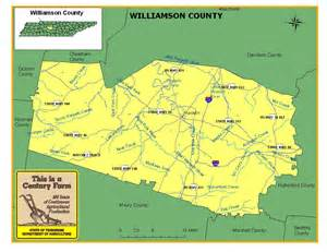 map of williamson county williamson county tennessee century farms