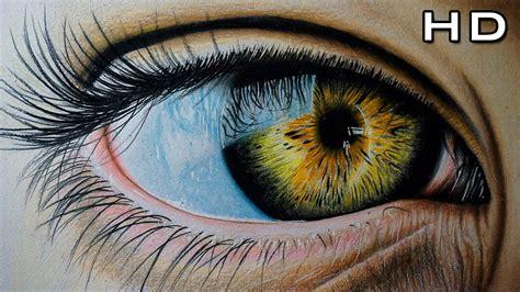 imagenes de ojos surrealistas dibujo de un ojo realista con l 225 pices de colores versi 243 n