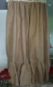 Burlap Curtain Ruffled Burlap Curtain Panel In Natural Tan