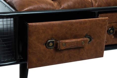 divanetto vintage divanetto vintage ecopelle con cassetti arredamento