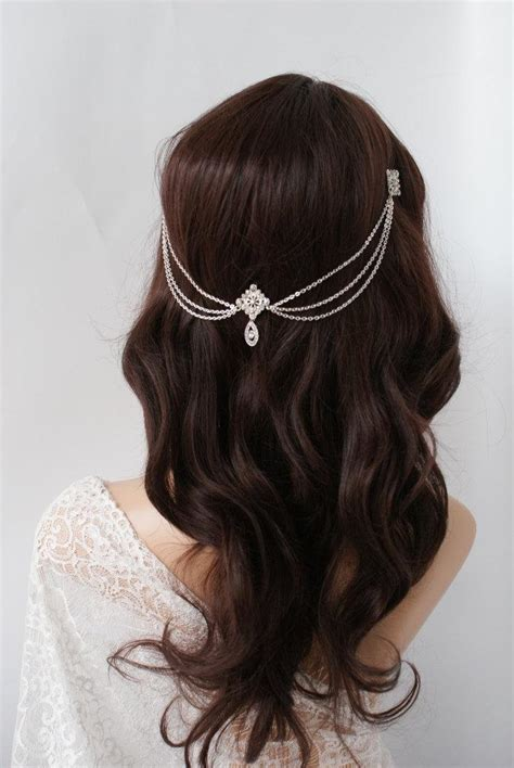 Vintage Bohemian Wedding Hair Accessories by Wedding Headpiece With Crystals Bohemian Wedding