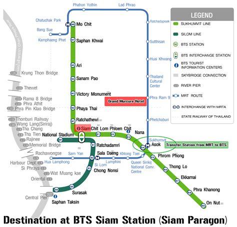 bts thailand bts map mrt map