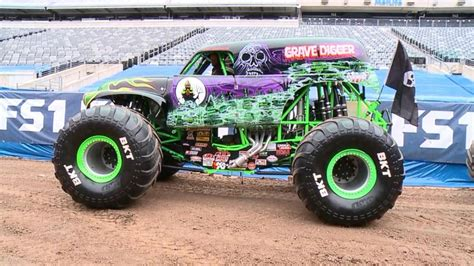 who drives grave digger monster truck monster truck grave digger legacy video abc news