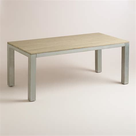 wood and metal pelagia dining table world market