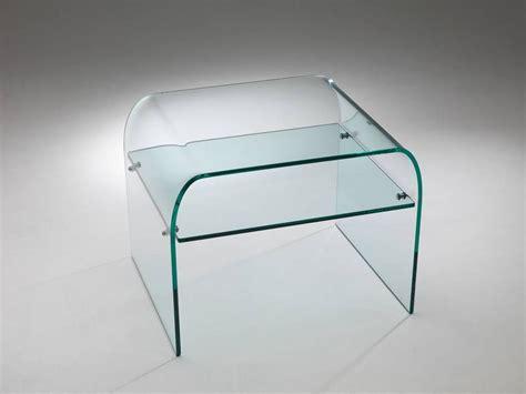 comodino vetro comodino in vetro curvato comodo piano