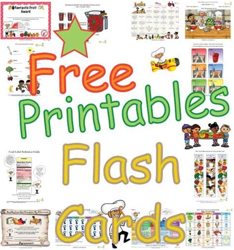 printable exercise flash cards food group and activity flash cards for kids healthy