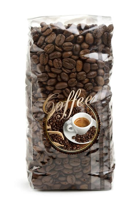 bag  coffee beans stock photo image