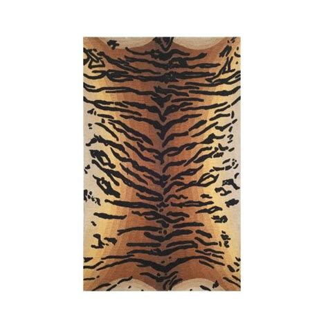 tiger floor rug tiger print rug area rug wool safari decor