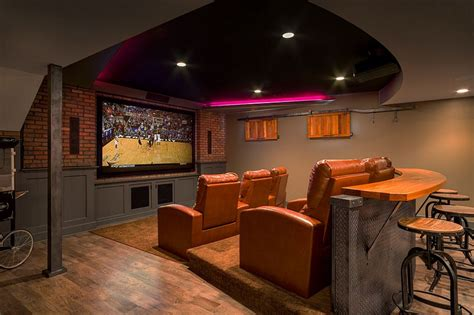 custom designed bar adds to the appeal of the basement