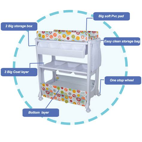 Plastic Changing Table Baby Plastic Changing Table With Bathtub View Plastic Changing Table With Bathtub Beibeile