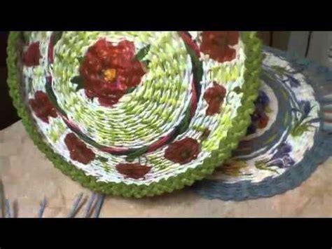 maestra tejedora elena bolso con tubos de peri 243 dicos parte 1 youtube papel