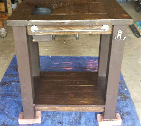 Patio Table With Built In Grill Grill Prep Table With Built In Cooler Do It Yourself Home Projects From White Grill Cart