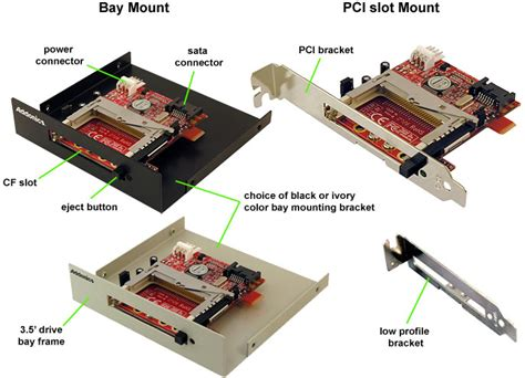 Sata Ii To Cf Adapter With Mounting Bracket addonics sata to compactflash adapter includes ivory