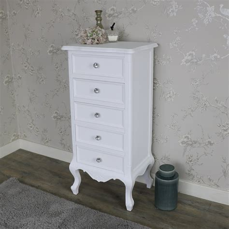 Cheap White Tallboy Chest Drawers by White 5 Drawer Tallboy Chest Of Drawers Elise White