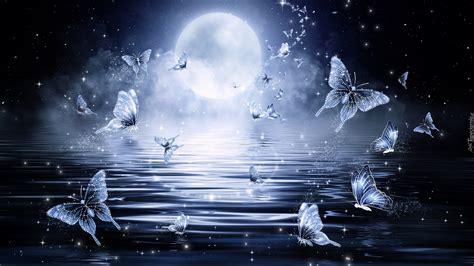 imagenes de hadas alegres motyle nad wodą w blasku księżyca w grafice fantasy