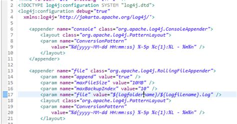 log4j pattern logger name add current date and time to log4j log file name