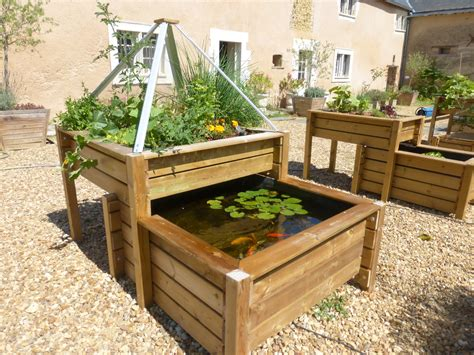 Potager Hors Sol Palette by Bassin Potager Selon Le Principe De L Aquaponie Jardin