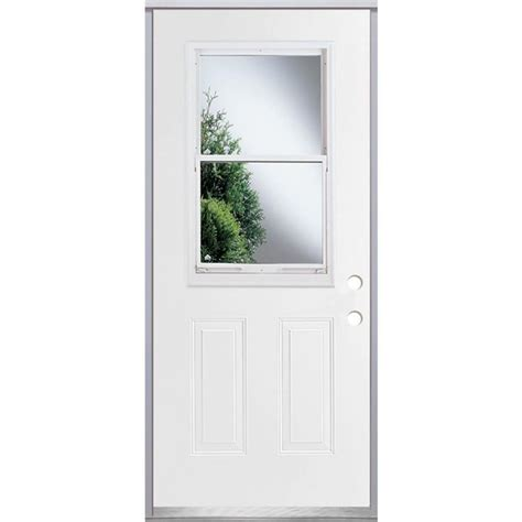 Shop Reliabilt 2 Panel Insulating Core Vented Glass With Vented Exterior Doors