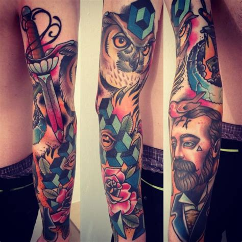 owl tattoo on leg calf by alex gallo 97 best ideas about tattoo ideas on pinterest sleeve