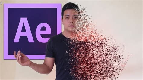 after effects after effects tutorial disintegration effect