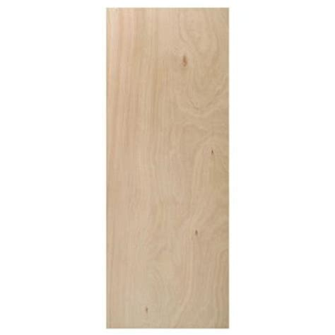 home depot interior slab doors 18 in x 80 in flush hardwood unfinished hollow core