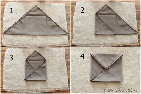 Folding A Paper Envelope - fall place setting letters of thanks