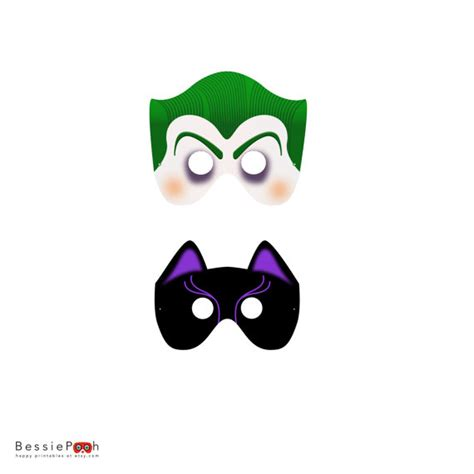 Joker Mask Template bessie wing on etsy