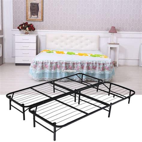folding queen bed frame homdox queen size metal folding platform bed frame base