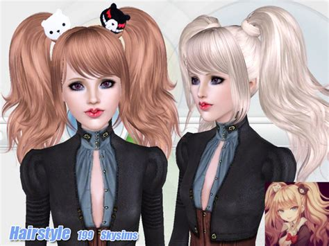 sims 4 anime hair cc anime hair 199 by skysims sims 3 downloads cc caboodle