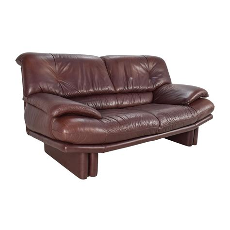 Second Hand Brown Leather Two Seater Sofa Sofa