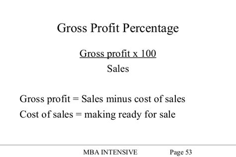 Gross Profit Mba by Accounting34