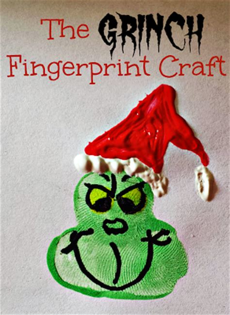 hands on crafts for christmas in the morning grinch fingerprint craft for at time crafty morning