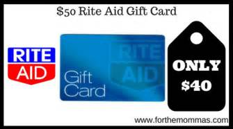 rite aid 50 rite aid gift card for 40 starting 12 3 ftm - Gift Cards Rite Aid