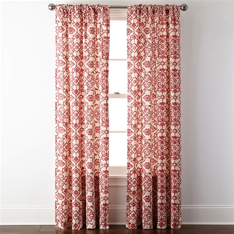 curtains at jcpenney upc 073133170018 jcpenney home landry rod pocket back