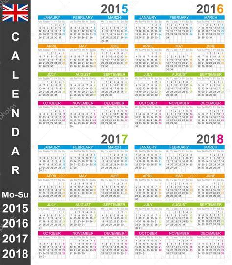 Calendar 2015 To 2018 Calend 225 2015 2018 Vetor De Stock 169 Hana11 53341845