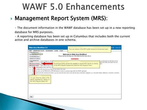 wawf tutorial ppt wide area work flow wawf powerpoint presentation