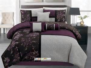 purple and grey comforter sets purple and gray comforter set from sears