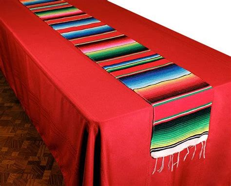 handwoven mexican decoration table runner serape blankets