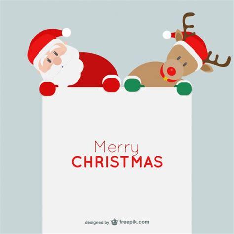 imagenes navidad minimalistas tarjeta minimalista de navidad con santa claus y reno