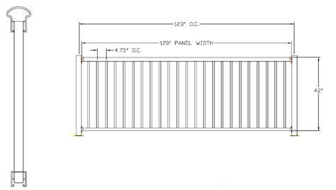 handrail section avon breadloaf top aluminum deck railing
