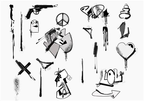 graffiti vector design elements 25x eps graffiti vector element pack download free vector art