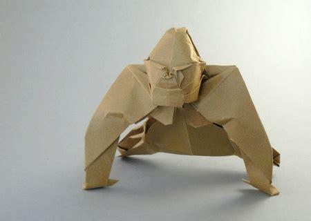 Gorilla Origami - origami gorillas 1 gilad s origami page