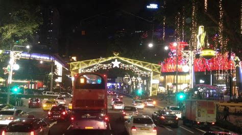 orchard road xmas light up 2014 singapore youtube