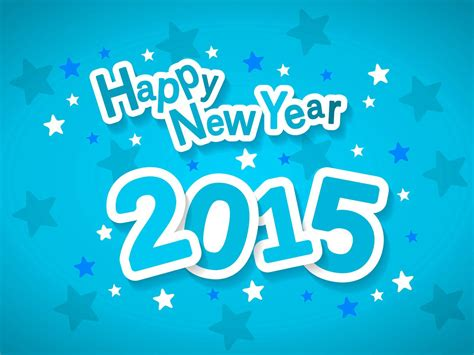 happy new year 2015 blue wallpaper hd wallpaper