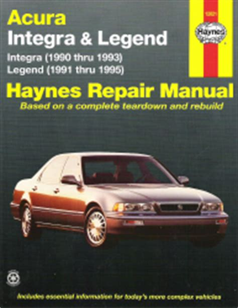 1990 1995 acura integra legend haynes repair manual